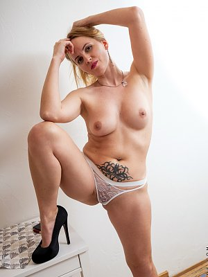 Very Sexy Blonde Wife Posing